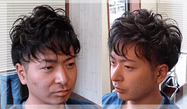 メンズパーマスタイルヘア画像
